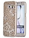 la magie de petites fleurs modèle ultra transpareny mince couverture rigide affaire pour Samsung Galaxy S6