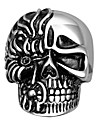 Terrorist Skulls Orcs Exaggerated Personality Rock Titanium Steel Stainless Steel Men's Ring Christmas Gifts