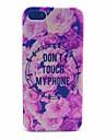 PC de la contraportada esmerilada transparente flowerspattern rosa para el iphone 5 / 5s