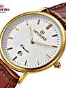남성 드레스 시계 팔찌 시계 손목 시계 달력 방수 석영 일본 쿼츠 가죽 밴드 럭셔리 블랙 브라운