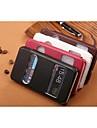 Para Samsung Galaxy Capinhas Com Suporte / com Visor / Flip / Com Relevo Capinha Corpo Inteiro Capinha Cor Unica Couro PU para SamsungS7