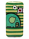 Elephant Pattern Glitter TPU Material Soft Phone Case for Samsung S Series