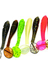 7pcs Soft Plastic Rubber Bait Silicon Fishing Lures 70mm 3g