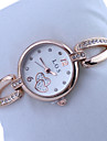 Dames Dress horloge Kwarts Legering Band Glitter / Heart Shape / Bedeltjes Goud Rose Merk-