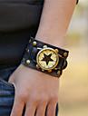 男性 腕時計 手巻き式 ファッションウォッチ レザー バンド ブレスレット