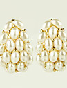 Earring Stud Earrings Jewelry Women Alloy / Imitation Pearl / Rhinestone 2pcs Gold / White