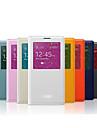 Для Samsung Galaxy Note с окошком / С функцией автовывода из режима сна / Флип Кейс для Чехол Кейс для Один цвет Искусственная кожа