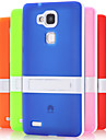 For Huawei Case with Stand Case Back Cover Case Solid Color Hard TPU Huawei Huawei Mate 7