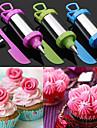 스크레이퍼 4 케이크 설탕 공예 도구 장식 펜 세트 과자 노즐 팁의 세트 (색상 랜덤)