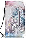 Pour Samsung Galaxy Coque Porte Carte Portefeuille Avec Support Clapet Coque Coque Integrale Coque Attrapeur de reves Cuir PU pour Samsung