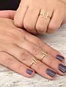 Массивные кольца Сплав Регулируется Простой стиль Мода Золотой Серебряный Бижутерия Для вечеринок 1шт