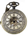 남성 회중 시계 기계식 시계 중공 판화 메카니컬 메뉴얼-윈딩 합금 밴드 럭셔리