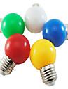 1W E26/E27 Круглые LED лампы G45 5 SMD 2835 350 lm Естественный белый / Красный / Синий / Желтый / Зеленый Декоративная AC 220-240 V 1 шт.