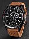 V6® Men\'s Fashion Design Leather Strap Quartz Casual Watch Cool Watch Unique Watch