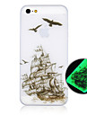 The Ship Pattern Luminous Phone Case Back Cover Case for iPhone5C