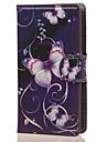 Pour Coque Nokia Etuis coque Portefeuille Porte Carte Avec Support Coque Integrale Coque Papillon Dur Cuir PU pour NokiaNokia Lumia 640
