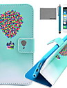 COCO FUN® Balloon Travel Pattern PU Leather Case with Screen Protector and USB Cable and Stylus for iPhone 6/6S