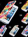 warm-gestemde kleurrijke pu leer full body case voor de iPhone 4 / 4s (assorti kleur)