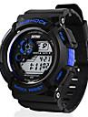 Hombre Reloj de Pulsera Digital LCD / Calendario / Cronografo / Resistente al Agua / alarma / Reloj Deportivo Caucho Banda Negro Marca-