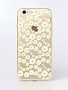 Pour Coque iPhone 6 Coques iPhone 6 Plus Etuis coque Transparente Motif Coque Arrière Coque Fleur Flexible PUT pouriPhone 6s Plus iPhone