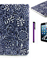 Black Flower Pattern TPU Soft Back Cover Case for iPad Mini 3/iPad Mini 2/iPad Mini
