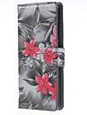 На все тело бумажник / Визитница Цветы Искусственная кожа жесткий Для крышки случая HuaweiHuawei P9 / Huawei P9 Lite / Huawei P8 / Huawei