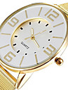 Fashion Popular Steel Mesh Band Gold Watch Women Luxury Brand Dress Quartz Watches Clock Hours Lady White Dial Cool Watches Unique Watches Strap Watch