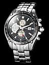 Men's Sport Watch Full Steel Dress Quartz Wrist Watch Analog Calendar/Water Resistant Vogue Clock Man (Assorted Colors) Cool Watch Unique Watch