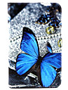 For Samsung Galaxy Case Card Holder / with Stand / Flip / Pattern Case Full Body Case Butterfly PU Leather SamsungTab 4 10.1 / Tab 4 7.0