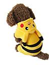 Σκυλιά Στολές / Φούτερ με Κουκούλα / Φόρμες Κίτρινο Ρούχα για σκύλους Άνοιξη/Χειμώνας Κινούμενα σχέδια Στολές Ηρώων