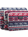 10\'\' 11\'\' 12\'\' 13\'\' 14\'\' 15\'\' Baby Elephant Rhombus Pattern Canvas Bag Computer Protective Sleeve Case