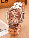 Dames Dress horloge Kwarts Legering Band Glitter Zilver / Goud / Goud Rose Merk-