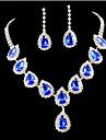 Femme Set de Bijoux Mode Colore bijoux de fantaisie Imitation Diamant Boucles d\'oreille Collier Pour Soiree Occasion speciale