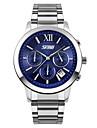 Hombre Reloj Deportivo Cuarzo Japones Calendario / Cronografo / Resistente al Agua / Cronometro Acero Inoxidable Banda Plata Marca