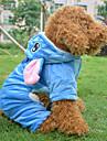Perros Abrigos Azul Invierno Animal / Caricaturas Cosplay