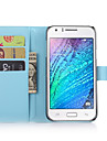 For Samsung Galaxy Case Card Holder / Wallet / with Stand / Flip Case Full Body Case Solid Color PU Leather Samsung J7 / J5 / J1 / E7 / E5