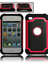 Dual Detachable Plastic and Silicone Case for iPod Touch 4 (Assorted Colors)