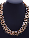 European Style Retro Individuality Drill Claw Chain Gold Plating Necklace