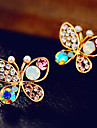 Earring Stud Earrings Jewelry Women Alloy / Rhinestone 2pcs Silver