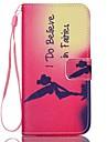 Pour Samsung Galaxy Coque Portefeuille Porte Carte Avec Support Clapet Coque Coque Integrale Coque Mot / Phrase Cuir PU pour SamsungS7