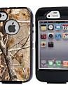 3in1 hibrido camuflar impressao arvore dirtproof duro embutido caso protetor de tela para o iPhone 4 4S
