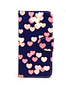 Love Pattern PU Leather Full Body Case with Card Slot and Stand for iPhone 5C