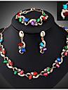 Collar / Pendiente / Brazalete / Anillo ( Bano en Oro / Aleacion / Zirconia Cubica )- Vintage / Fiesta para Mujer