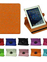 Palace kukka kuvio 360 astetta pyörivän PU nahka koko kehon tapauksessa jalusta iPad 2/3/4 (eri värejä)