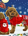Cat Dog Hoodie Clothes/Jumpsuit Red Dog Clothes Winter Spring/Fall Snowflake Christmas New Year\'s