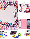 Special Design Novelty Folio Case PU Leather Coloured Drawing or Pattern Holster for iPad/2/3/4