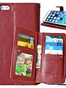 용 아이폰6플러스 케이스 지갑 / 카드 홀더 / 윈도우 / 플립 케이스 풀 바디 케이스 단색 하드 인조 가죽 용 Apple아이폰 7 플러스 / 아이폰 (7) / iPhone 6s Plus/6 Plus / iPhone 6s/6 / iPhone