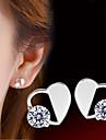 В форме сердца Серьги-гвоздики Бижутерия Женский Сердце Камни по месяцу рождения Свадьба Для вечеринок Повседневные СпортСтерлинговое
