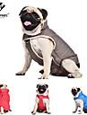 Собаки Плащи / Жилет Красный / Синий / серый Одежда для собак Зима / Весна/осень Однотонный Сохраняет тепло / Защита от ветра