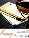 For Samsung Galaxy etui Spejl Etui Bagcover Etui Helfarve PC Samsung S6 edge / S6 / S5 / S4 / S3